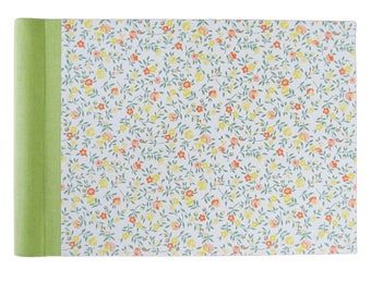 "Photo album, spiral bound with linen hinge and Carta Varese-cover ""Flower Meadow"""