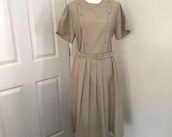 Vintage St Michael tan dress size 16