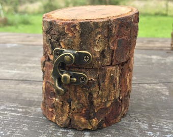 """Pecan Tree Carved Box (an """"Ent"""")"""