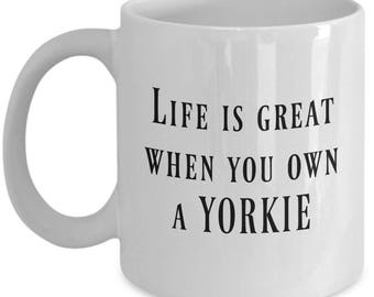 Yorkie Mug, Yorkie, Yorkie Gift, Yorkie Coffee Mug, Yorkie Gifts, Yorkie Mom, Yorkie Dad, Yorkie Coffee Cup, Yorkie Lover, 11 oz white