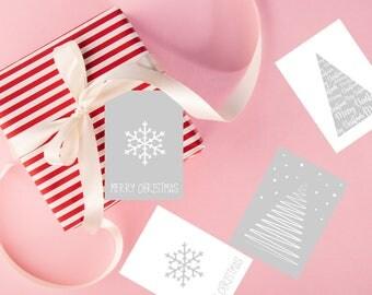 Printable Christmas Tags, Digital Christmas Gift Tags, Printable Tags, Instant Download Christmas, Digital Xmas tag Snowflake tags Three tag