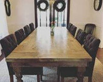 Rustic Spindle Leg Table