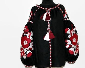 Ukrainian Vyshyvanka Blouse Embroidered Boho Blouses Bohemian Clothing Custom Embroidery Boho chic Clothes Ethnic Folk Ukraine Vishivanka