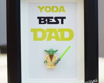 Star wars, Lego, Lego minifigure, Yoda for daddy husband hubby dadstep dad decor home decor superhero decor inspired by LEGO