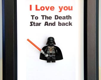 Star Wars, Lego, Lego minifigures, Darth Vader for daddy husband birthday anniversary gift inspired by LEGO