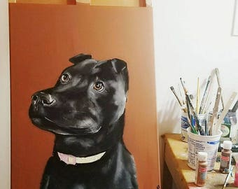 18 x 24 Custom Pet Portraits on Canvas
