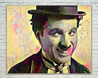 Charlie Chaplin - Charlie Chaplin Poster,Charlie Chaplin  Art,Charlie Chaplin Print,Charlie Chaplin Poster,Charlie Chaplin Merch,Charlie C