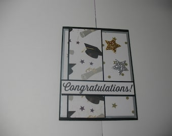 Cap and diploma graduation card