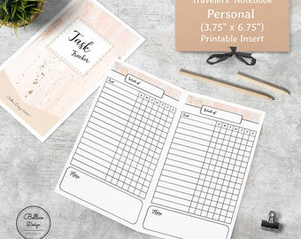 Task Tracker, Tracker Printable, To Do Lists Printable, To Do List Planner, TN Personal Inserts, Planner Personal Size, Planner Tracker