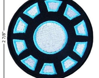 Iron Man Iron Arc Reactor Embroidered Iron On Patch