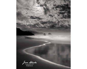 Oregon Coast by Moon Light