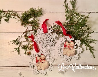 Christmas Ornaments ~ set of three ~