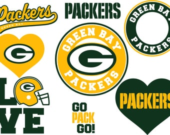Green Bay Packers SVG DXF Logo Silhouette Studio Transfer Iron on Cut File Cameo Cricut Iron on decal Vinyl decal Layered Vector