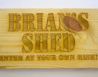 Personalised Custom Laser Cut Man Cave / Shed Sign