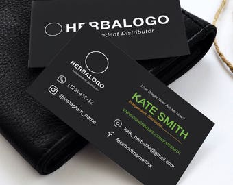 Herbalife Cards Etsy - Herbalife business card template