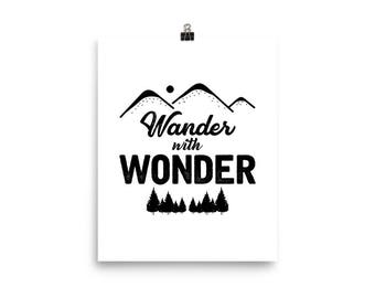 Wander with Wonder Poster