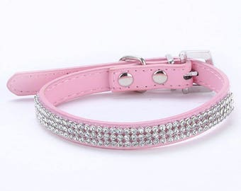 Rhinestone Pet Collar For Dogs or Cats/ High Quality Very Sparkly/