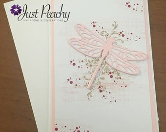Dragonfly Pink Card