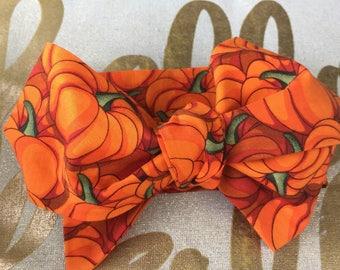 Orange pumpkin headwrap