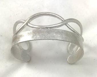 Brushed Silver Metal Bracelet