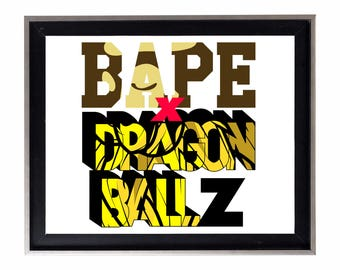 Bape x Dragon Ball Z Poster or Art Print (a bathing ape)