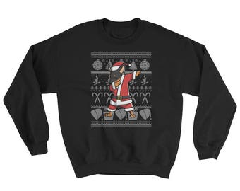 Funny Dabbing Miniature Pinscher Ugly Christmas Sweater Cute Dog Gift