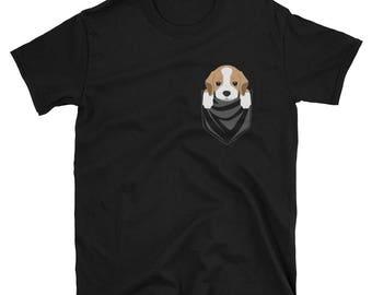 Funny Beagle Pocket T-Shirt Cute Dog Gift