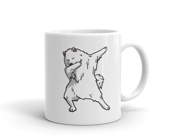 Cute Dabbing Samoyed Dog Mug Funny Dab Dance Gift