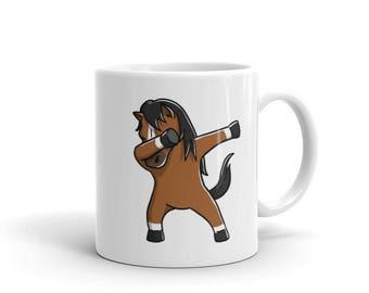 Cute Dabbing Horse Mug Funny Dab Dance Pet Gift