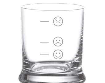 "Leonardo Whisky glass with engraving ""mood glass smiley"" engraved gift"