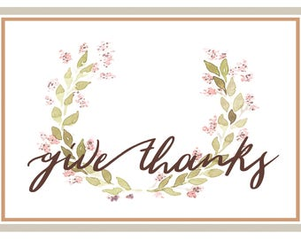 Give Thanks - Print