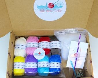 Heart Key Ring Crochet Kit