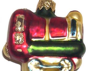 Wholesale lot- 20 pcs  Vintage Christmas Tree Ornament Glass Train Figurine