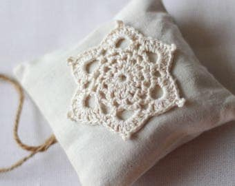 Crochet Flower Square Lavender Bag