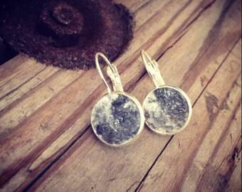 Marbled concrete earrings