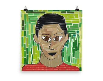 Syeed's Self Portrait - Beautiful Archival Cotton Rag Fine Art Giclée Print Supporting the Nonprofit Fresh Artists