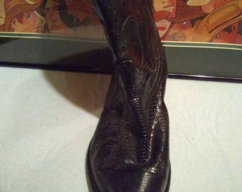 Los Altos Authentic Lizard J-Toe Cowboy Boots