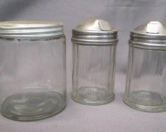 Three (3) Vintage Kitchen Jars
