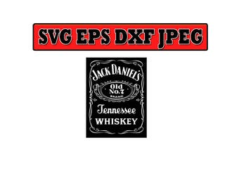 Jack daniels SVG File - Vector Design in, Svg, Eps, Dxf, and Jpeg Format for Cricut and Silhouette, Digital download !!!!!!!