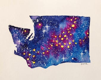 Galaxy Washington art print