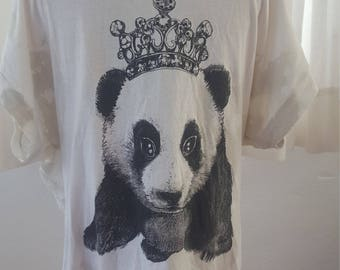Shredded panda shirt