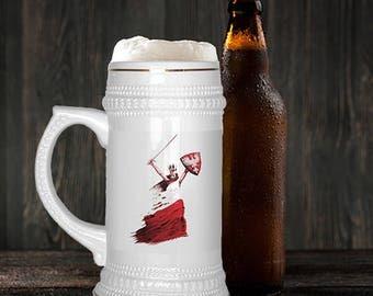 Polish Woman Warrior Beer Stein