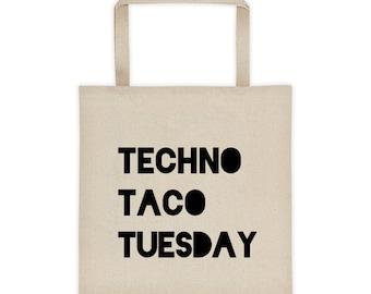 Techno Taco Tuesday tote bag