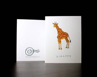 "5.5""x4"" Giraffe Greeting Card"
