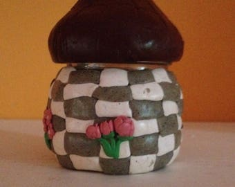 Hand-decorated jar