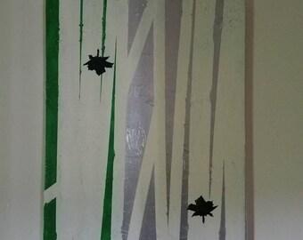 Leaf design painting