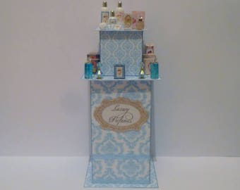 OOAK Dollhouse Miniature 1/12th Perfume/Boutique shop display stand