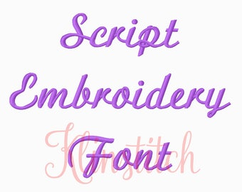 50% Sale!! Script Embroidery Fonts 3 Sizes Fonts BX Fonts Embroidery Designs PES Fonts Alphabets - Instant Download