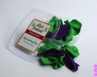 PERSONALIZED - Felt Food - Felt Food Set - Felt Food Toy - Play Salad - Felt Salad - Toy Salad - Felt Salad Set - Pretend Salad