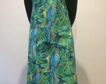 Blue Parrot Apron